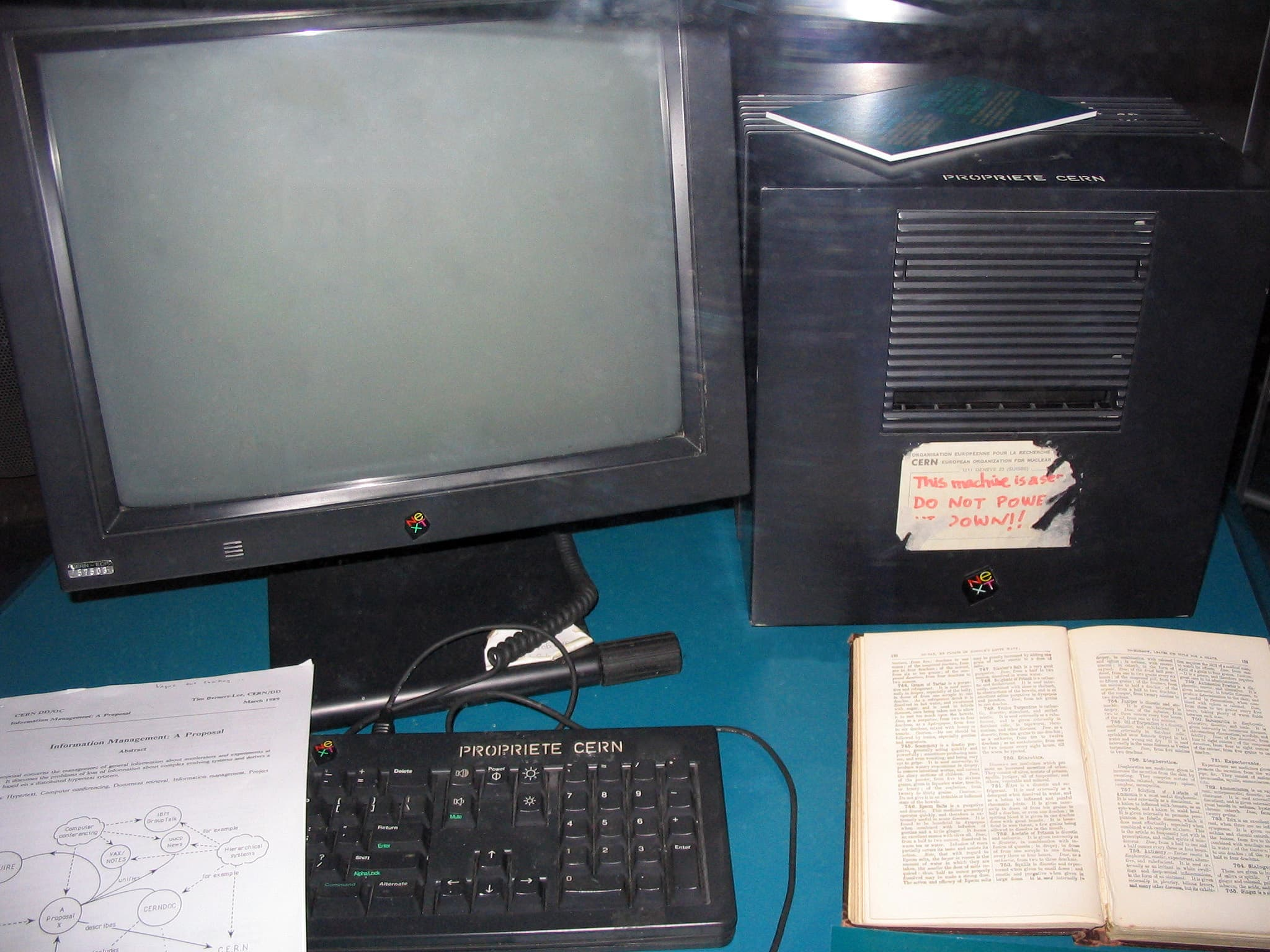 The first web server, at CERN in Geneva